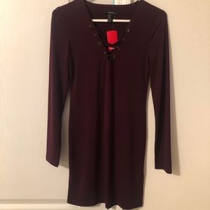 NWT Maroon Bodycon Dress